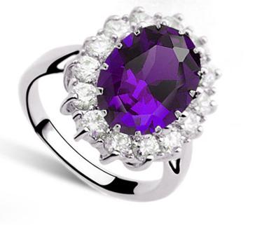 Кольцо с кристаллами Сваровски rs-50
