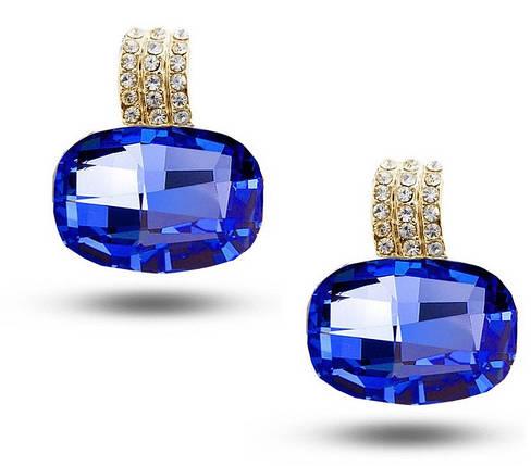 Серьги с кристаллами Сваровски es39, фото 2