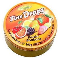 Леденцы мультифруктовые Woogie Fine Drops Frucht Bonbons200g