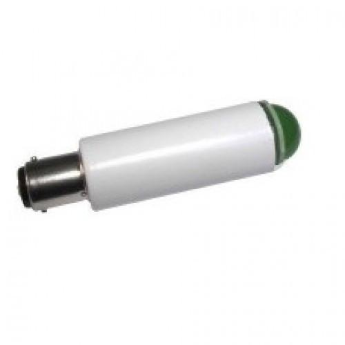 Лампа СКЛ1Б-ЛМ-2-220 B15d/18 Зеленая