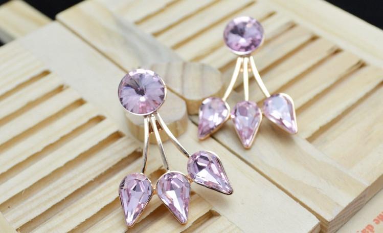 Серьги с кристаллами Сваровски es50