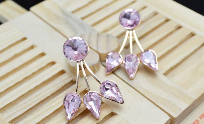 Серьги с кристаллами Сваровски es50, фото 2