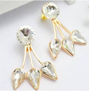 Серьги с кристаллами Сваровски es54, фото 2