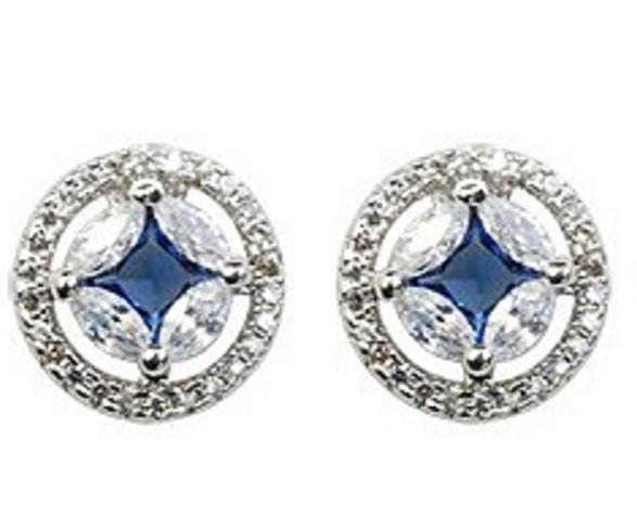 Серьги с кристаллами Сваровски es81
