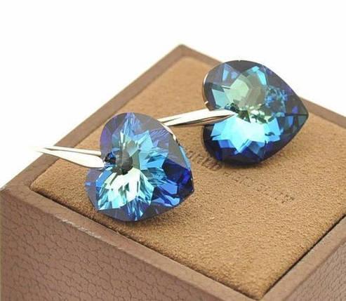 Серьги с кристаллами Сваровски es103, фото 2