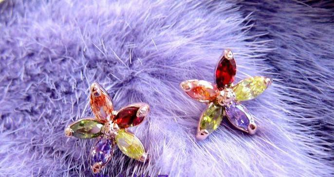Серьги с кристаллами Сваровски es182, фото 2