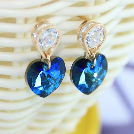 Серьги с кристаллами Сваровски es179, фото 2