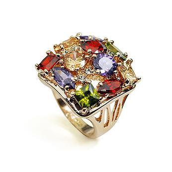 Кольцо с кристаллами Сваровски rs-66