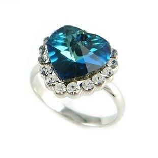 Кольцо с кристаллами Сваровски rs-81
