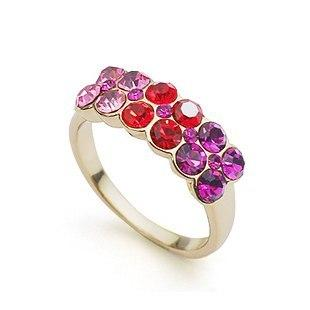 Кольцо с кристаллами Сваровски rs-97