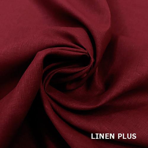 Бордова лляна тканина, колір 511