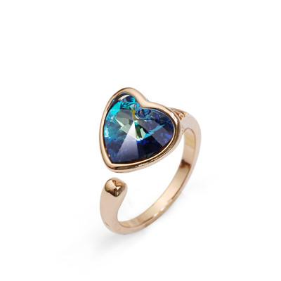 Кольцо с кристаллами Сваровски rs-123