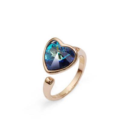 Кольцо с кристаллами Сваровски rs-123, фото 2