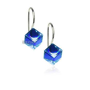 Сережки з кристалами Swarovski ХАМЕЛЕОН es269, фото 2