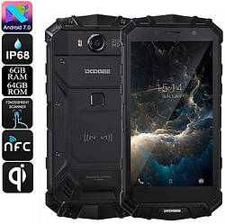 Смартфон Doogee S60 IP68 black 6/64 Gb 8 ядер 21Mp
