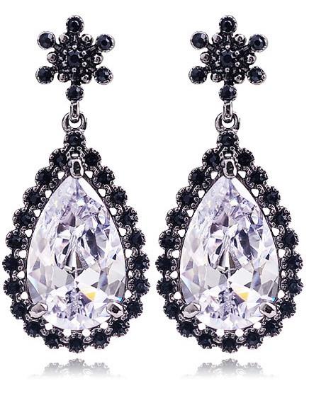 Серьги с кристаллами Swarovski es288