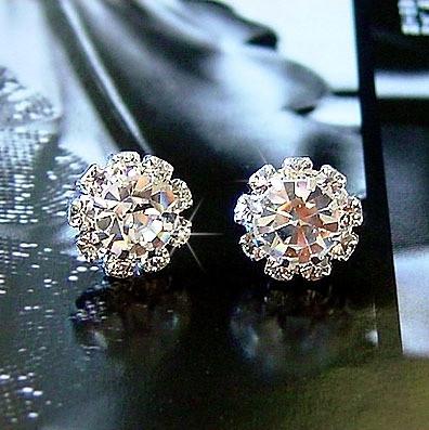 Серьги с кристаллами Swarovski es305