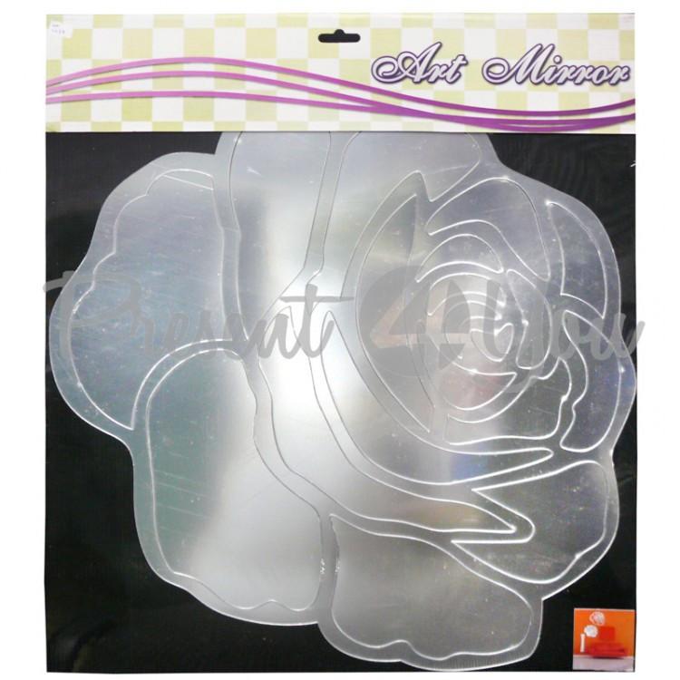 Зеркальная наклейка «Роза», 54,5х50 см.