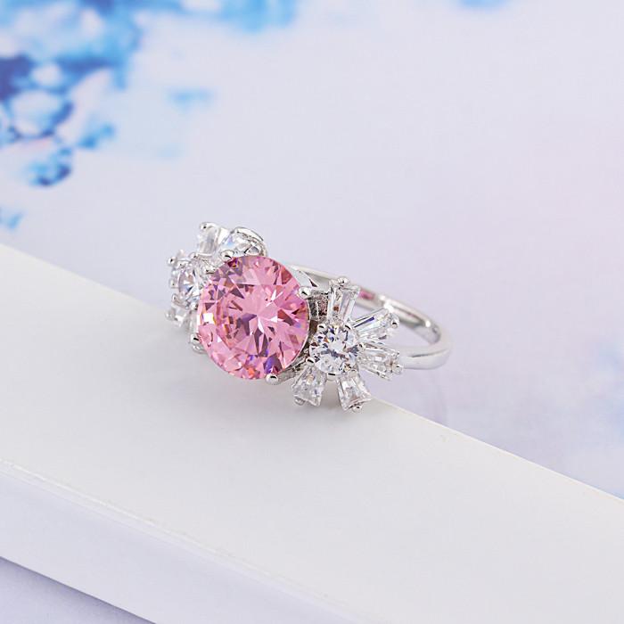 Кольцо с кристаллами Сваровски rs-150