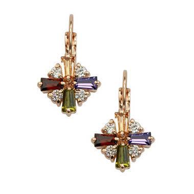 Сережки з кристалами Swarovski es346, фото 2