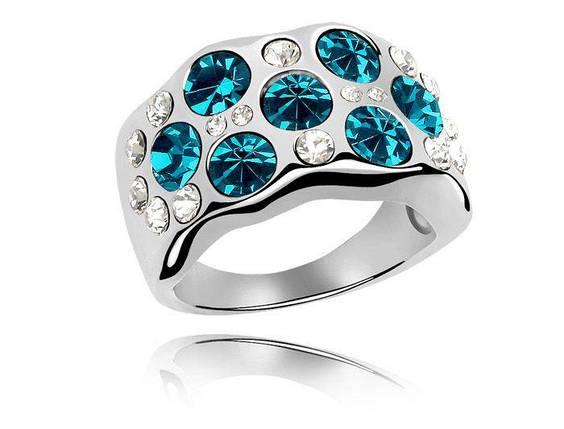Кольцо с кристаллами Сваровски rs-161, фото 2