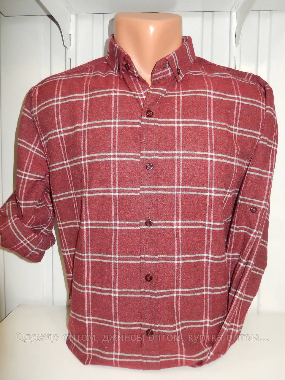 519788f32fc0436 Рубашка мужская теплая оптом. Рубашка клетка - Одежда оптом, джинсы оптом,  куртка оптом