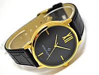 Мужские часы Patek Philippe - A04, корпус - золотистый, кварцевые