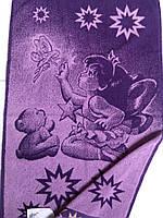 Рушник махровий 50*90 ДІВЧИНКА І ЕЛЬФ фиолет100% бавовни (шт)