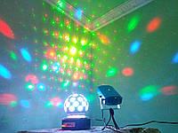 Светильник шар USB светомузыкальный для дискотек и клубов для создания световых эффектов Новогодняя