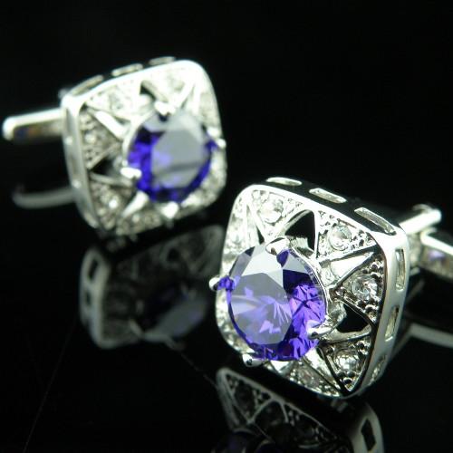 Запонки с кристаллами Сваровски zs25