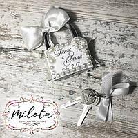 Свадебный замочек (замочек любви) с надписью