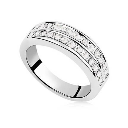 Кольцо с кристаллами Сваровски rs-166, фото 2