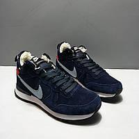 Nike Internationalist Navy Blue. Nike winter. Стильные кроссовки. Интернет магазин мужской обуви.