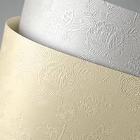 Картон дизайнерский элитный A4 FLORAL 230грн (кремовый, белый)