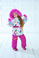 Зимний детский костюм комбинезон для девочки