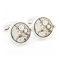 Запонки Watch Cufflinks Steampunk Silver Movement zs87
