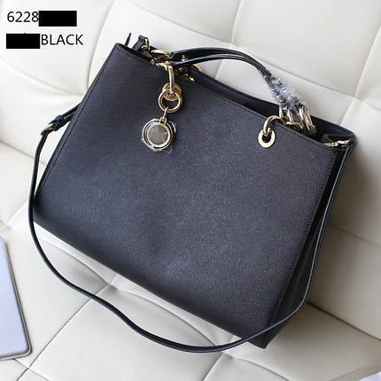 Женская сумка Michael Kors Cynthia (Майкл Корс Синтия) bg34-black (ЧЕРНАЯ) копия, фото 2