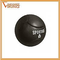 Медбол мяч для атлетических упражнений вес 3 кг, d-20 см кожа