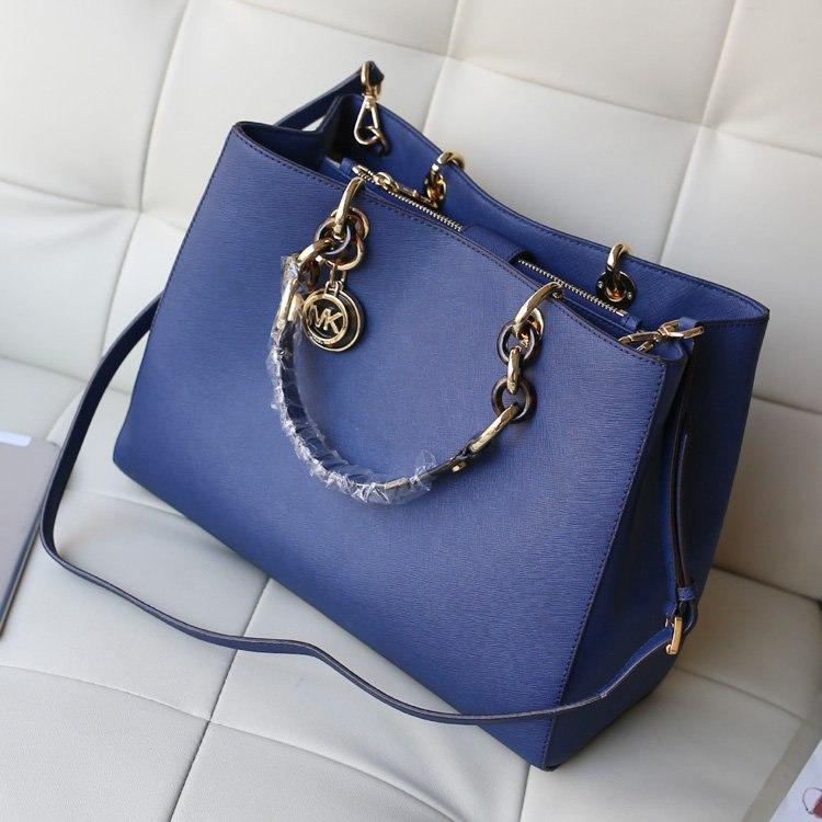 efd4c08e1e21 Женская сумка Michael Kors Cynthia (Майкл Корс Синтия) темно синяя bg34-blue