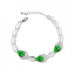 Браслет с кристаллами Сваровски bs48-green
