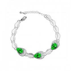 Браслет с кристаллами Сваровски bs48-green, фото 2