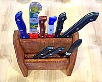 Подставка для ножей двухярусная Тик
