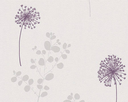 Обои с цветами одуванчиков, пастельных оттенков 290939.