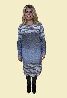 Жіноча тепла сукня №119, Р. 54-62.