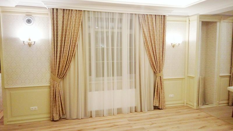 Функциональные и декоративные шторы с тюлем. Юровка