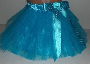 Юбка нарядная 2-5 лет, цвет: голубой