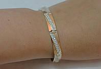 Браслет серебряный с золотом, фото 1