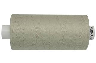 Нитка джинсовая АРЕНА 120 1000 метров. Бледный серо-салатовый - №677, цена за 5 катушек. по 1000 метров.