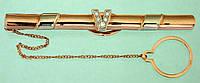 Золота шпилька з діамантом