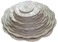 Ажурные салфетки круглые № 12 (250 шт), фото 1